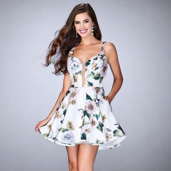 5c63743b458 LaFemme Homecoming Dress style 24500 white multi